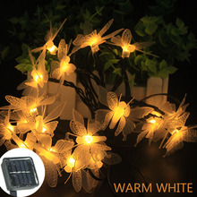 4.8M 20LED /7M 50LED Solar String Fairy Lights Premium Quality Waterproof Lamps Power 2 Modes For Garden Decoration