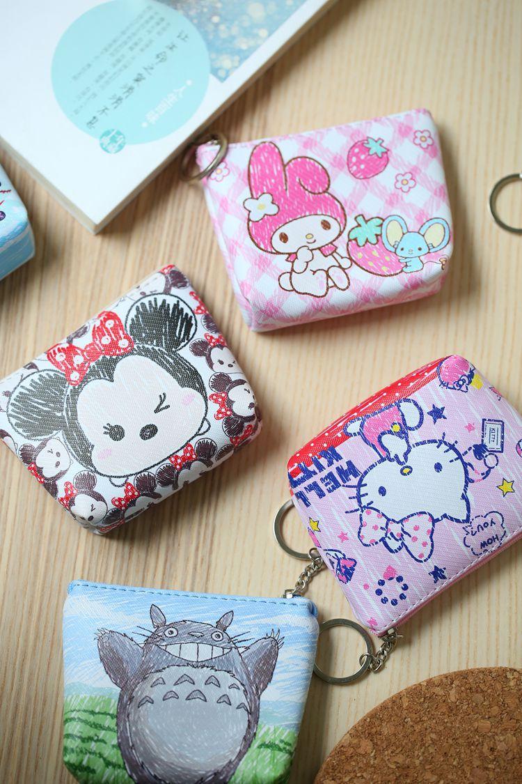 Disney children cartoon purse Coin Mickey Mouse coin bag girl boy gift handbag storage key pendant bag kid packet wallet Frozen