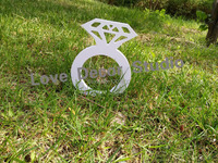 Merchandise Excellence Wedding Decoration Whte Big Size Diamond Ring Props Letter Wedding Props Marriage Props18 13cm