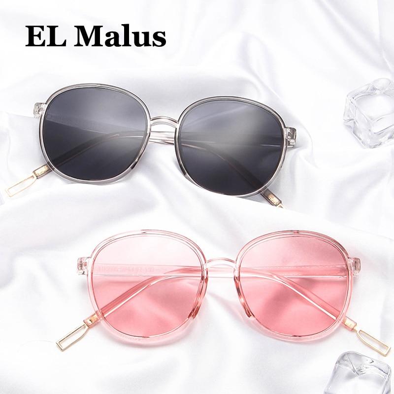 el Malus Fine 2018 Women Oval Frame Sun Glasses Mens Sunglasses Female Male Red Black White Red Shades Lens Mirror Eyewear Fishing
