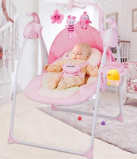 Детское кресло-качалка электрический встряска кресло-качалка свет складная детская колыбель качели кресло-качалку