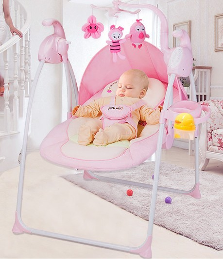 baby rocking chair electric shake rocking chair chair light folding children cradle swing rocking bed