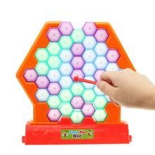 Honeycomb Board Game Save Bees Knock Down Building Blocks Beating For Kids Children Educational Toys Family Party Game Toy цена