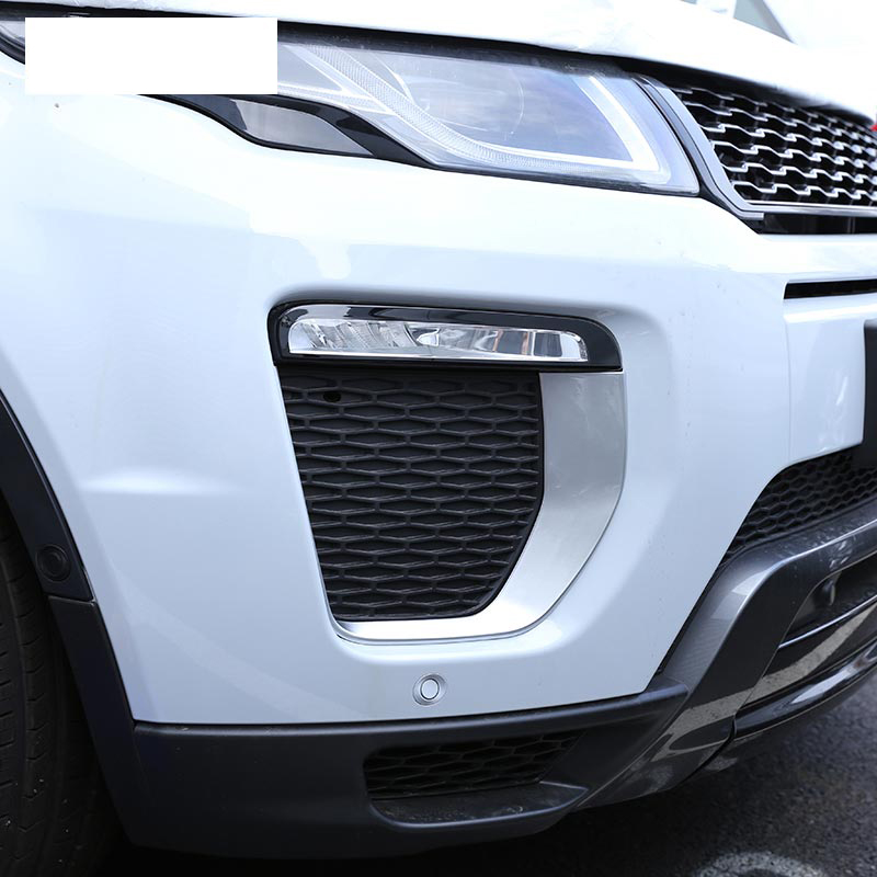 For Landrover Range Rover Evoque HSE Dynamic 2016 Car Accessories Front Fog Lamp Frame Trim ABS