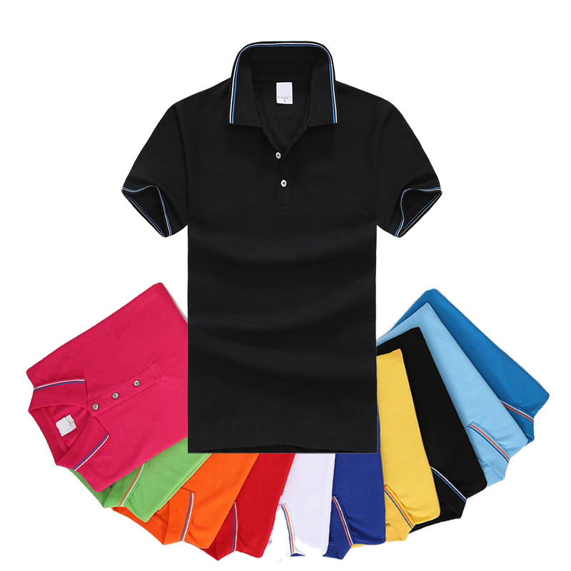 Free Shipping 2018 Summer New Style Men's Short Sleeve Polos Shirts Casual Mens Lapel Polos Shirts Solid Color Fashion Slim Tops