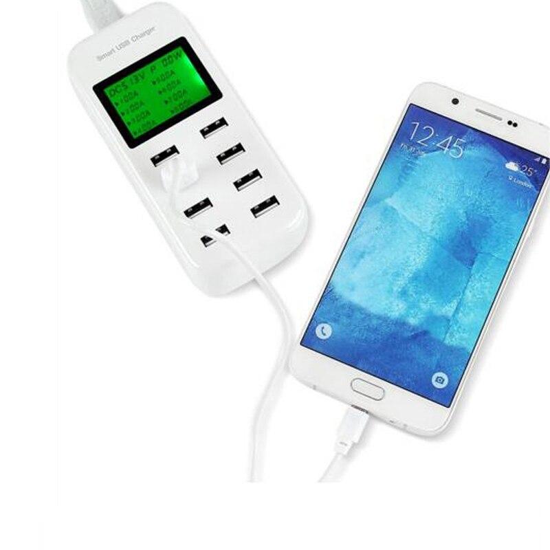 INGMAYA 8-port USB-laddare 5V8A LED-display laddningsstation för - Reservdelar och tillbehör för mobiltelefoner - Foto 4