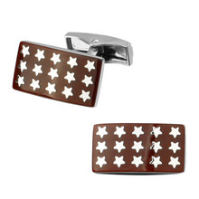 Men's shirts Cufflinks high-quality copper material Red Star Square Enamel Cufflinks 2 pairs of packaging for sale