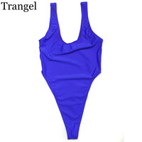 One Piece Swimwear Ladies Sexy Bikini Solid Color Red Blue Black Sport Suit Beachsuits Sun Bathing
