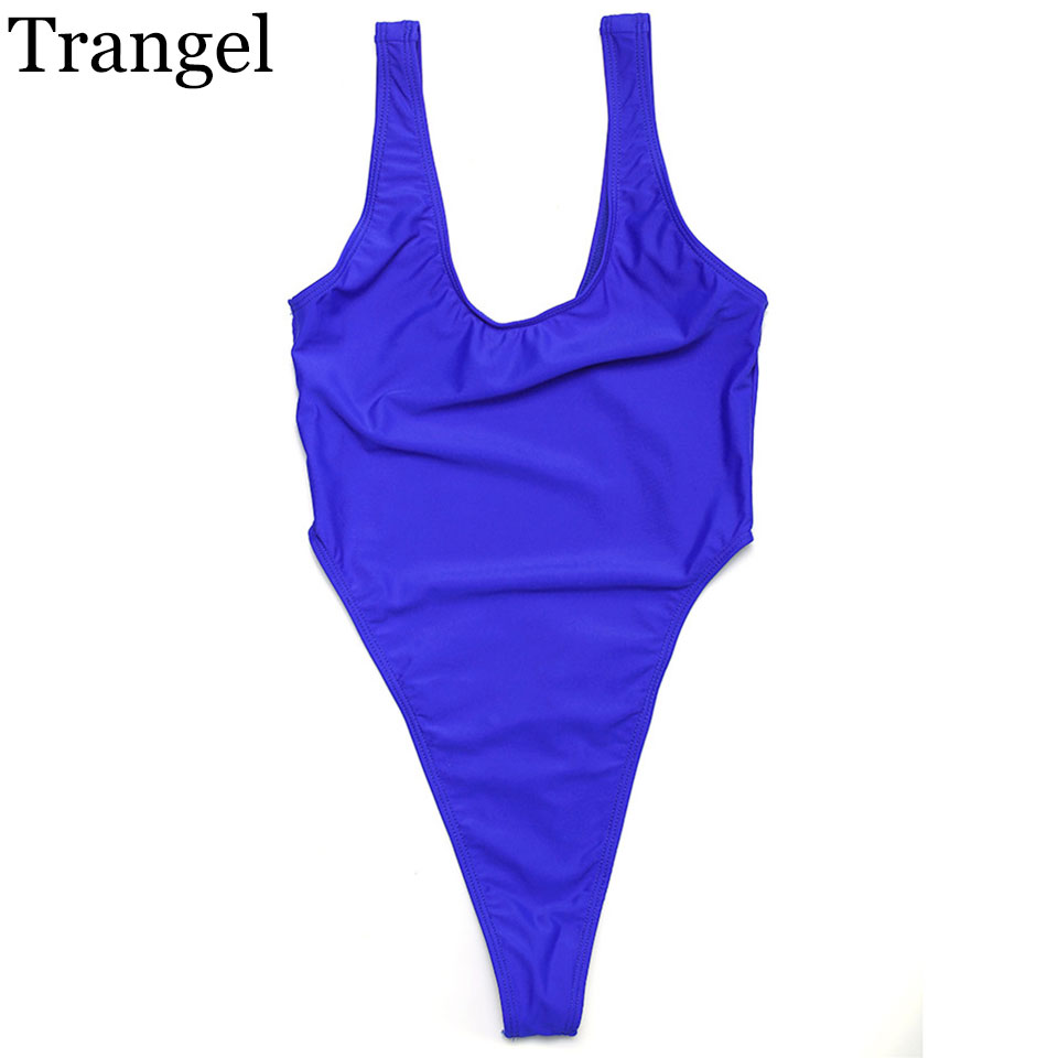 Trangel 2017 women swimwear sexy bikini solid color swimsuit sport suit beachsuits sun bathing suit plus size sexy Braz EG961