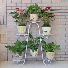 Европейский стиль многоэтажная Цветочная стойка зеленый балкон гостиная цветочные горшки