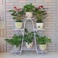 Европейский стиль многоэтажных цветок стойки зеленый балкон гостиной цветочные горшки