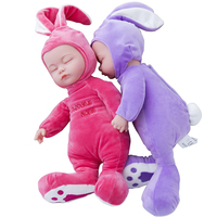 35cm Reborn Baby Doll Lifelike Plush Sleep Newborn Doll Soft Music Song Toys For Baby Kids
