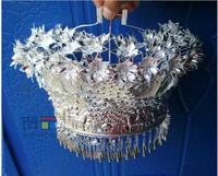 Miao silver Headdress Minority dance Miao silver Hat