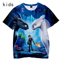 How to Train Your Dragon 3D Printed Children T-shirts  Summer Short Sleeve Tshirts 2019 Hot Sale Casual Streetwear Kids Clothes(China)