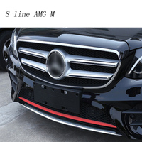 Car Styling Auto Head front bumper sequins decoration Cover sticker Trim for Mercedes Benz E class Sport W213 Auto accessories
