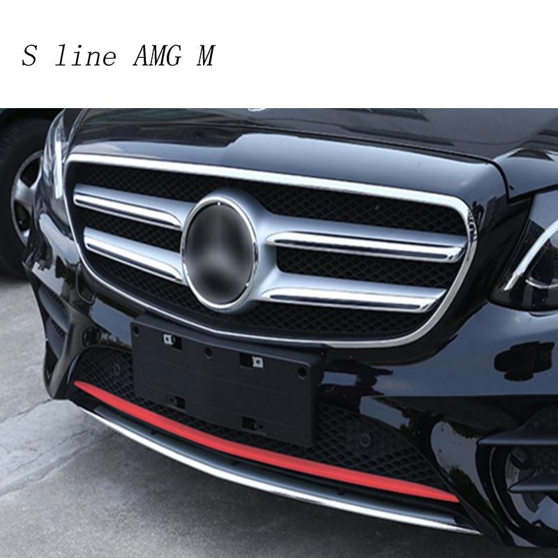 Car Styling Auto Head front bumper sequins decoration Cover sticker Trim for Mercedes Benz E class Sport W213 Auto accessories for mercedes benz w213 e class e200 e300l 2016 2017 amg car styling aluminum polish window moulding trim decoration set of 4pcs