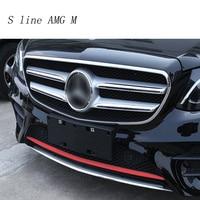 Car Styling Auto Head front bumper sequins decoration Cover sticker Trim for Mercedes Benz E class Sport W213 Auto accessories