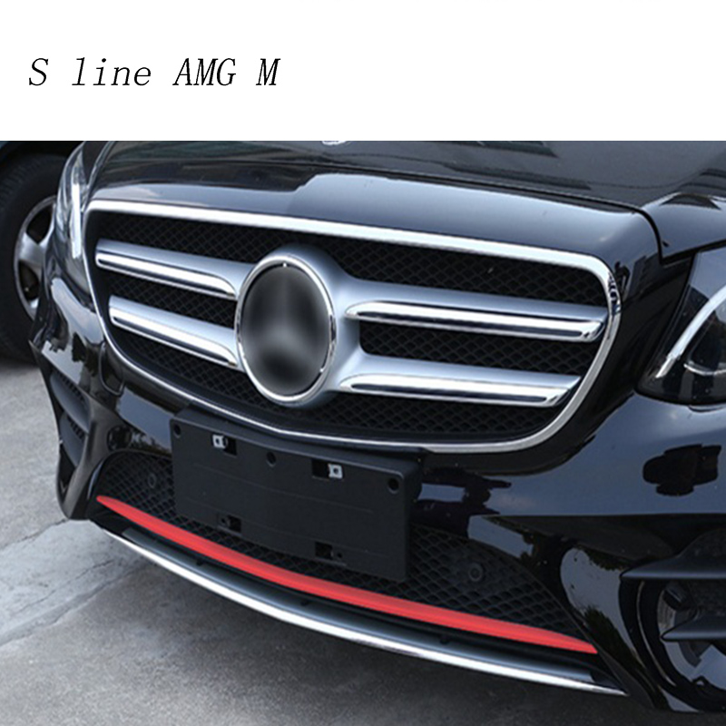 Car Styling Auto Head front bumper sequins decoration Cover sticker Trim for <font><b>Mercedes</b></font> <font><b>Benz</b></font> E class Sport <font><b>W213</b></font> Auto <font><b>accessories</b></font> image