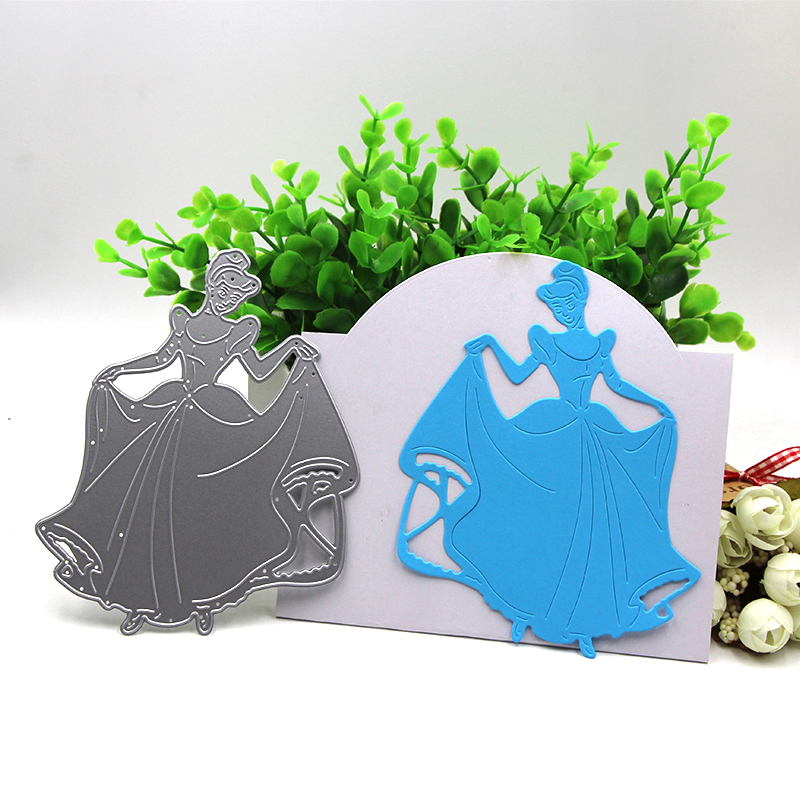 Cinderella Elsa Princess Metal Cutting Dies Stencils Template For Scrapbooking Card Album Embossing Decor DIY Metal Crafts Gift