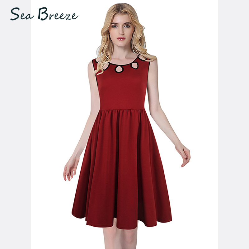 Sea Breeze Summer New Women Sweet Fashion O Neck