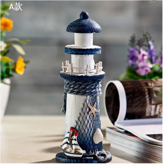 aliexpress com buy mediterranean style wooden lighthouse
