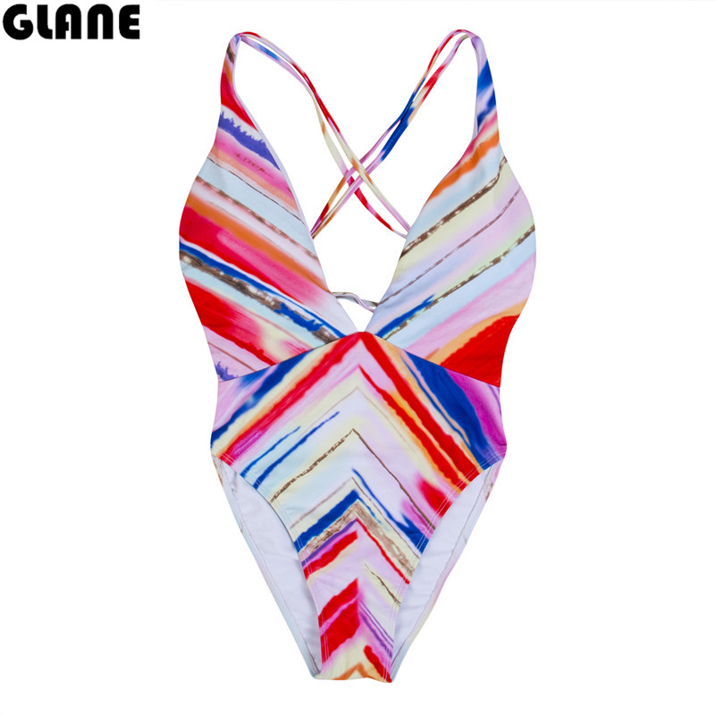 2018 One Piece Swimsuit Women's Swimsuit Swimwear Suit for Women Monokini Quilted Sexy Strappys Brazilian Swimsuit Bathing suit