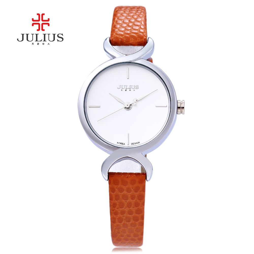 Julius JA-694 694 Women Watches Crocodile Leather Fashion Watch Casual Quartz Ladies Dress Clock Wristwatch Female Relogio Femin kimio new fashion leather strap women quartz casual bracelet watch clock female ladies girl dress wristwatch relogio and box