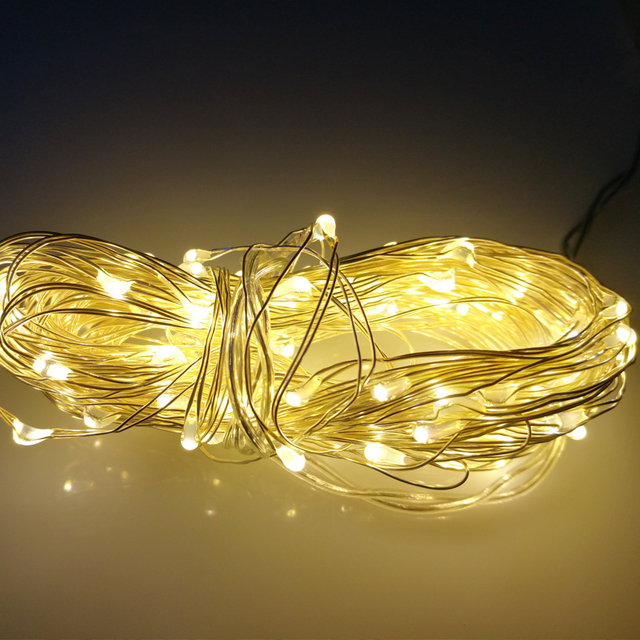 USB Garland LED Copper Wire Light String christmas lights Indoor Gerlyanda  Party lights decoration New Year Decorative lamp - USB Garland LED Copper Wire Light String Christmas Lights Indoor