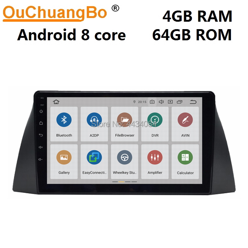 Ouchuangbo 10.1 inch car audio player head units for Chery Tiggo 3 T11 2008-2010 support 8 core DSP 4GB RAM 64GB ROM android 9.0