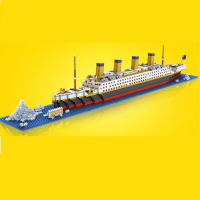 1860pcs Mini Diamond Building Blocks DIY Assembly Titanic Cruise Ship Model Toy for Birthday Present Gift