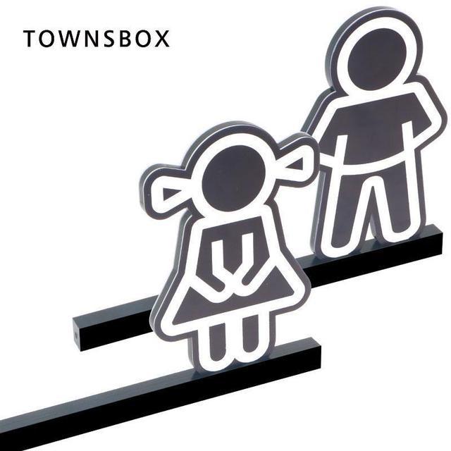 Kindergarten Boy Girl Wc Sign Board Acrylic Signage Plate Toilet