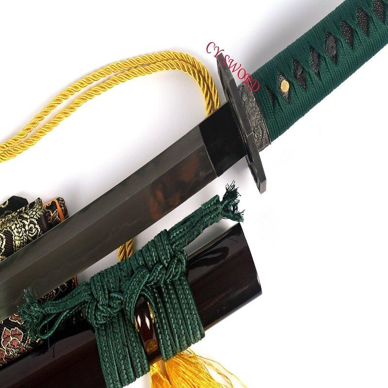Boja spremna za bitku Kaljeni T-10 čelik Japanski mač Wakizashi - Kućni dekor - Foto 3