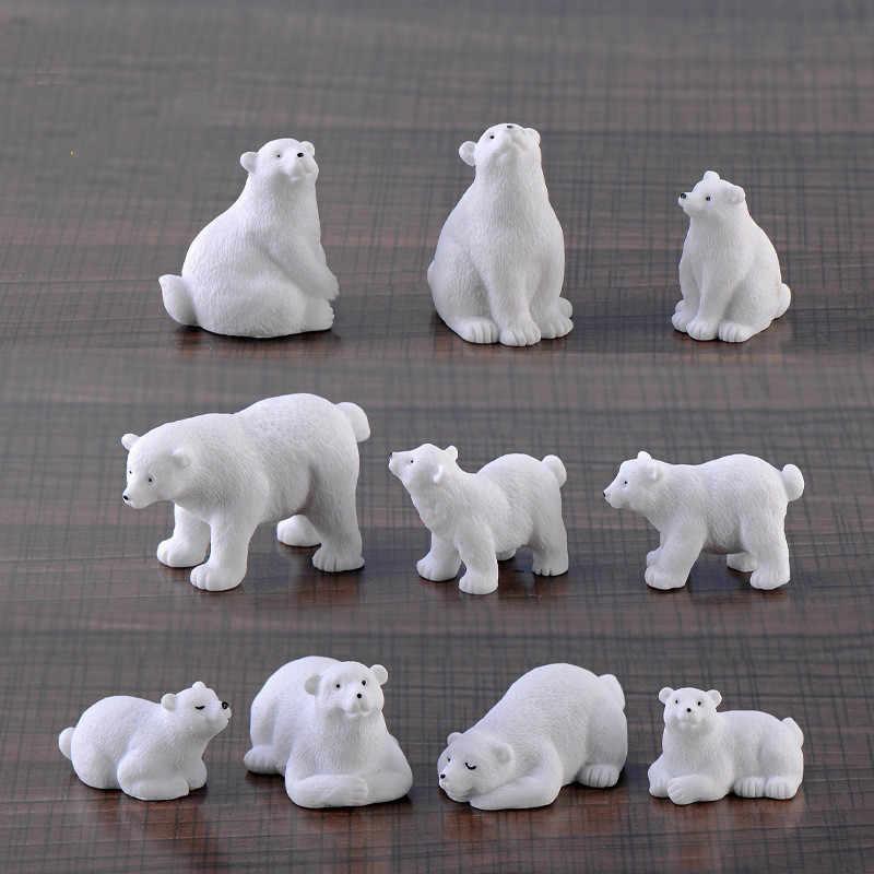 1 шт. Ins стиль полярный медведь микро-пейзаж кулон из смолы мульти-мясо орнаменты в стиле ZAKKA креативный подарок мебель домашний декор