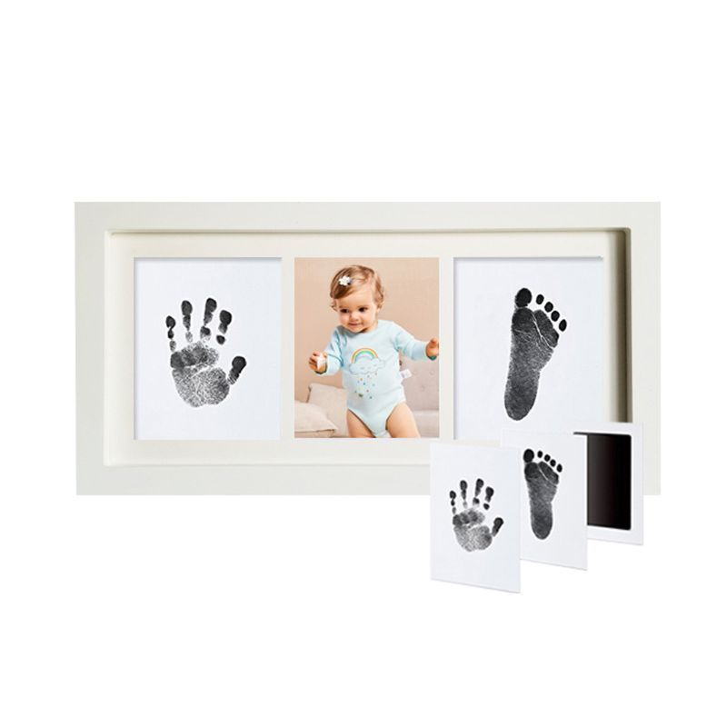 Baby Handprint Kit Footprint Photo Frame For Newborn Girls And Boys Baby Shower Gifts Set Memorable Keepsake Box Decorations