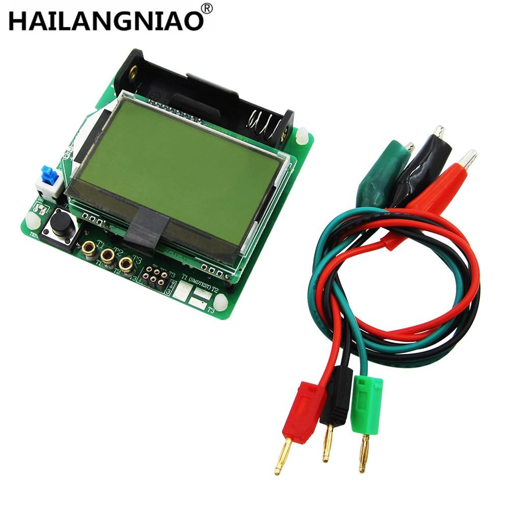 1set New 3 7V Version Of Inductor Capacitor ESR Meter DIY MG328 Multifunction Transistor Tester