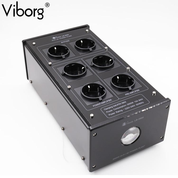 VIBORG Bada LB 5600 HiFi Power Filter Plant Schuko Socket Brand New