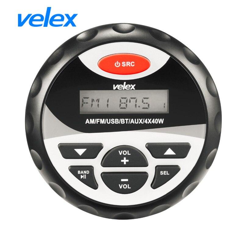 Marine Moto Étanche Stéréo Bluetooth Radio De Voiture MP3 Lecteur USB et Entrée AUX FM AM Audio 3 Pour En Plein Air haut-parleur Bateau UTV ATV