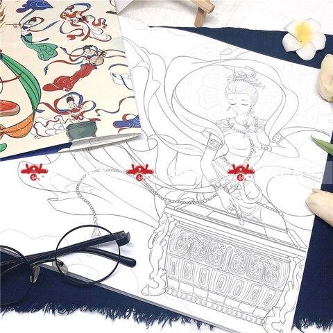 linha de desenho livro antigo chines livros