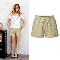 Летние женские свободные широкие шорты с высокой талией тонкие повседневные шорты больших размеров 6XL Haren шорты женские хлопковые короткие ...