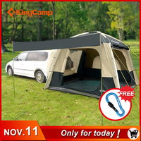 KingCamp Camping Tent 5 Person SUV Car Tent for Outdoor Camping Self driving Travelling Double layer Tent 4 Season Using