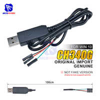 Oryginalny CH340 CH340G USB 2.0 do TTL adapter szeregowy pobierz kabel do arduino Raspberry Pi Windows 10/Mac OS X/Linux 1M kabel