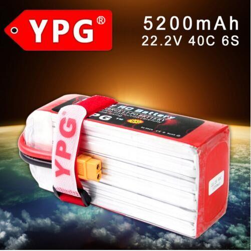 YPG 5200mAH 40C 22.2V 6S Lipo Li-Po Battery For RC HOBBY A GRADE 5C CHARGING mos rc airplane lipo battery 3s 11 1v 5200mah 40c for quadrotor rc boat rc car