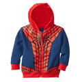 Free shipping new arrival kids fashion coat cartoon baby boys hoodie jacket autumn childrens spider-man outwear retail