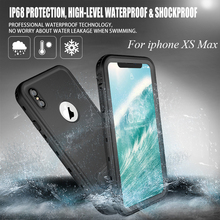 IP68 Waterproof Case for iphone XS Max 360 Full Cover Protection Shockproof Kickstand iphoneXS