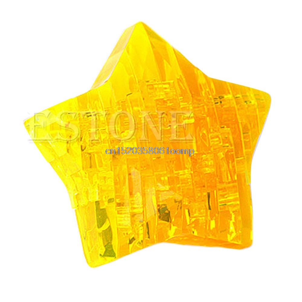 3D Star Shaped Crystal Puzzle Jigsaw Model Diy Intellectual Toy Gift Furnish #K4UE# Drop Ship