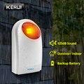 KERUI J008 110dB Indoor Outdoor Waterproof Wireless Flashing Siren Strobe Light Siren For KERUI Home Alarm Security System