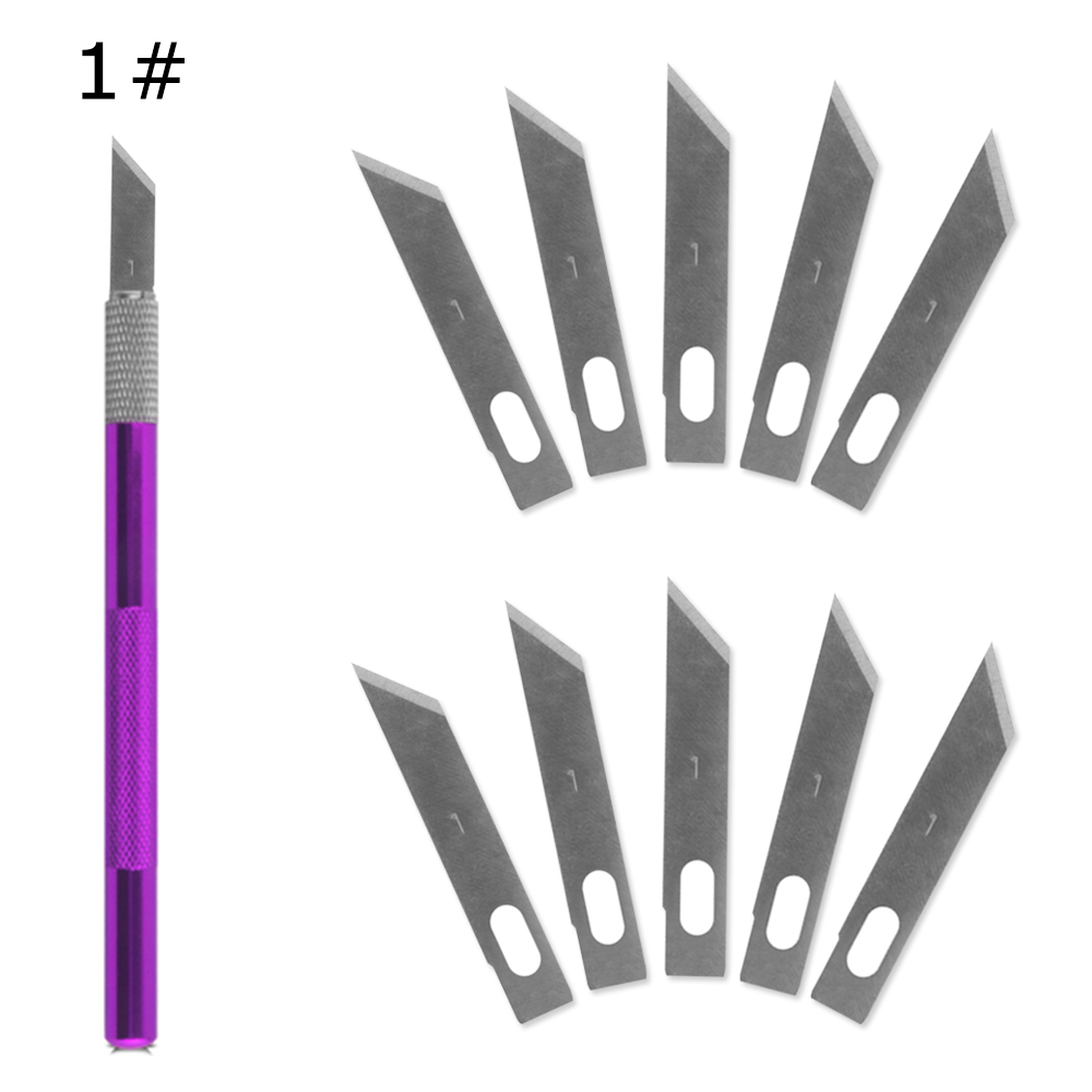 1 Knife Handle with 10 Blade Replacement 1 Mobile Phone PCB DIY Repair Hand Tools Surgical