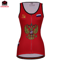 ZM Russia Female Vest National Flag Clothes Running Shirt Mesh Fabric Bike MTB Road Breathable Sportswear Top Riding Vest