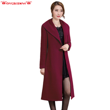 2017 Winter new style Slim Women Double – sided Wool & Blends Coat Solid coloration lapel lengthy part cardigan girls jacket ly0079