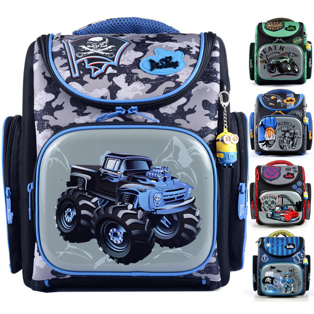 New Cartoon Racing Car Printing School Bags for Boys Waterproof Orthopedic Backpacks Mochila Escolar Primary Kids School Satchel